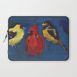 Shadow Bird (Cardinal, Goldfinches, and ?) Laptop Sleeve