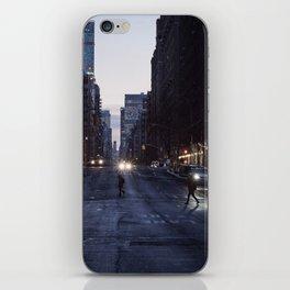 Winter dusk in New York iPhone Skin