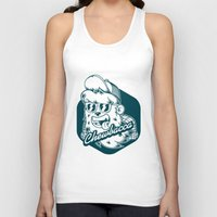 chewbacca Tank Tops featuring Hipster Chewbacca by Redwane