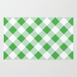 Gingham - Green Rug