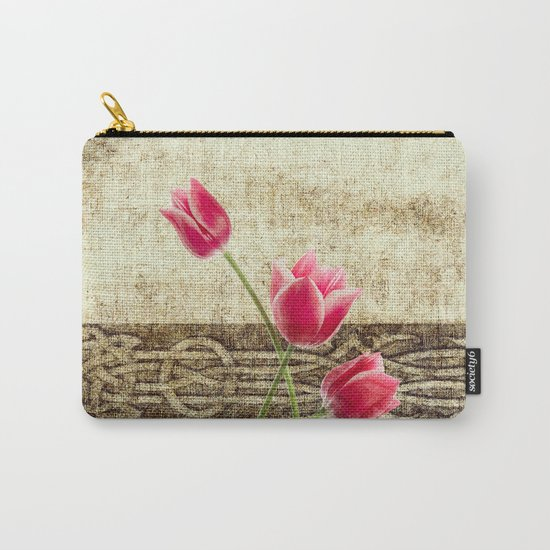 vintage flowed  Carry-All Pouch