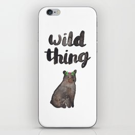 Wild Thing Bear iPhone Skin