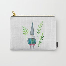 Summer Gnome - Green Leaves Carry-All Pouch