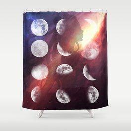 Moon Goddess Selene Shower Curtain