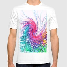 True Colours Mens Fitted Tee MEDIUM White