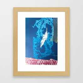 feather and blue Framed Art Print
