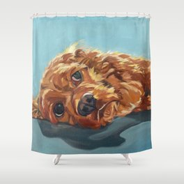 Newton the Lounging Cocker Spaniel Shower Curtain
