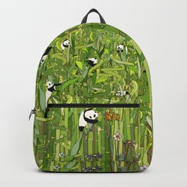 Traveling Pandas in Bamboo Forest Backpack