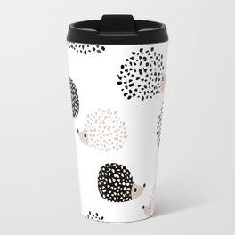 Hedgehog friends black and white spots Travel Mug