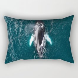 Humpback Whale in Iceland - Wildlife Photography Rectangular Pillow