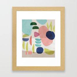 Watercolor Bold Shapes Framed Art Print