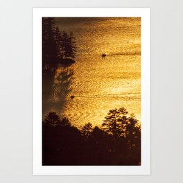 Golden Waters on Newfound Lake Art Print