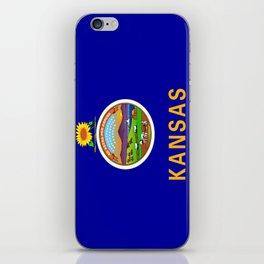 flag Kansas-america,usa,middlewest,Sunflower State, Kansan,Topeka,Wichita,Overland Park,Wheat State iPhone Skin
