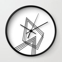Prisms. Wall Clock