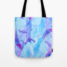 Banana Tree Leaves | Purple & Cyan Blue Tote Bag
