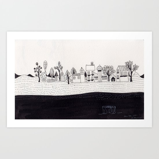 small village Art Print