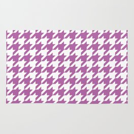 Radiant Orchid Houndstooth - Baby Stimulation Pattern Rug