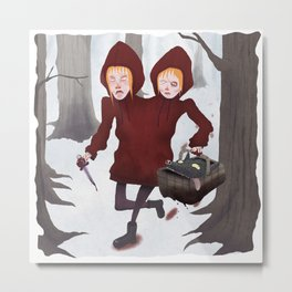 Red Riding Hoods Metal Print
