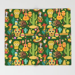 Fiesta Time! Mexican Icons Throw Blanket