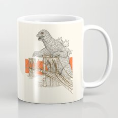 Godzilla vs. the Brooklyn Bridge Coffee Mug