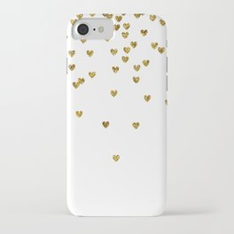 Gold Hearts iPhone Case
