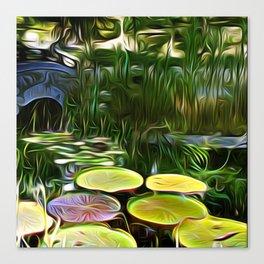 Greenery Pond Canvas Print