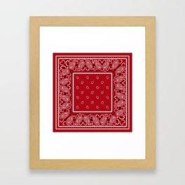 Classic Red Bandana Framed Art Print