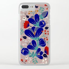 Folk Spring Flowers blooms Clear iPhone Case