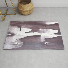 Gray claret abstract Rug