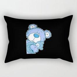 the girl holding the bear Rectangular Pillow