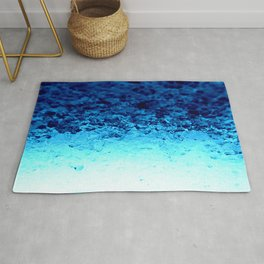 Blue Crystal Ombre Rug