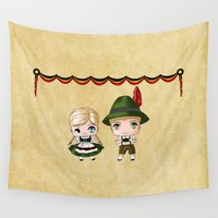 german Wall Tapestries featuring German Chibis by artwaste