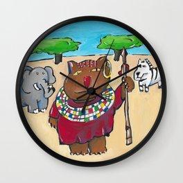 Tanzania Cat Wall Clock