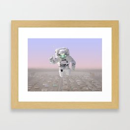 ASTRO FISH Framed Art Print
