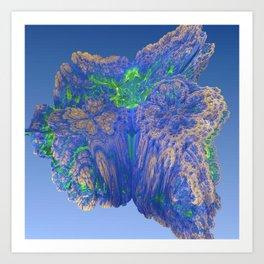 Mean Coral Art Print