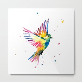 Freedom Feathers Metal Print
