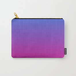 Vibrant Blue, Purple & Pink Gradient Color Carry-All Pouch