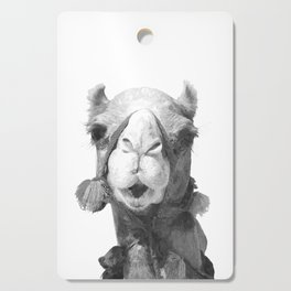 Black and White Camel Portrait Cutting Board