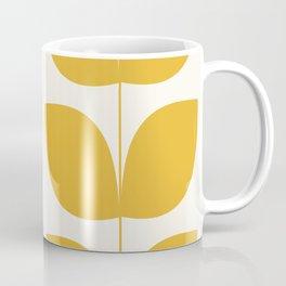 Mid Century Modern Leaves Yellow #society6 #buyart  Coffee Mug