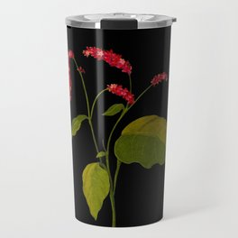 Polygonum Orientale Mary Delany Floral Paper Collage Delicate Vintage Flowers Travel Mug