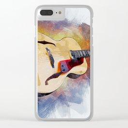 Guitar Love Clear iPhone Case