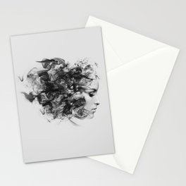 women and smoke, black and white Stationery Cards