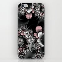 novelty iPhone & iPod Skins featuring Widow's Web Fractal by Moody Muse