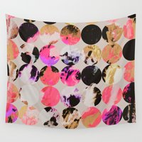 circles Wall Tapestries featuring Circles by Georgiana Paraschiv