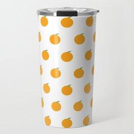 Orange Repeat Pattern Travel Mug
