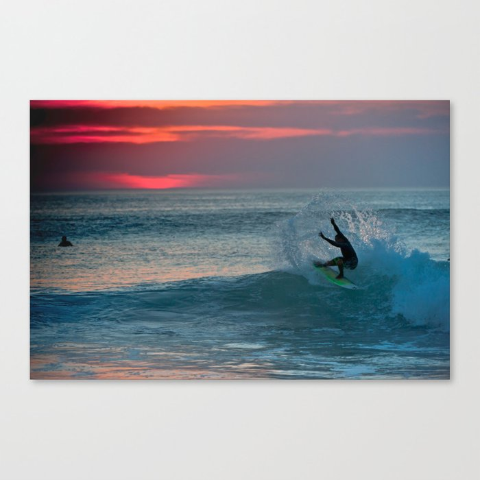 Late Afternoon Surf, Hossegor- France - 2013 Canvas Print