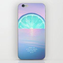 When life gives you lemons - Surreal Lemon Collage Sunset iPhone Skin