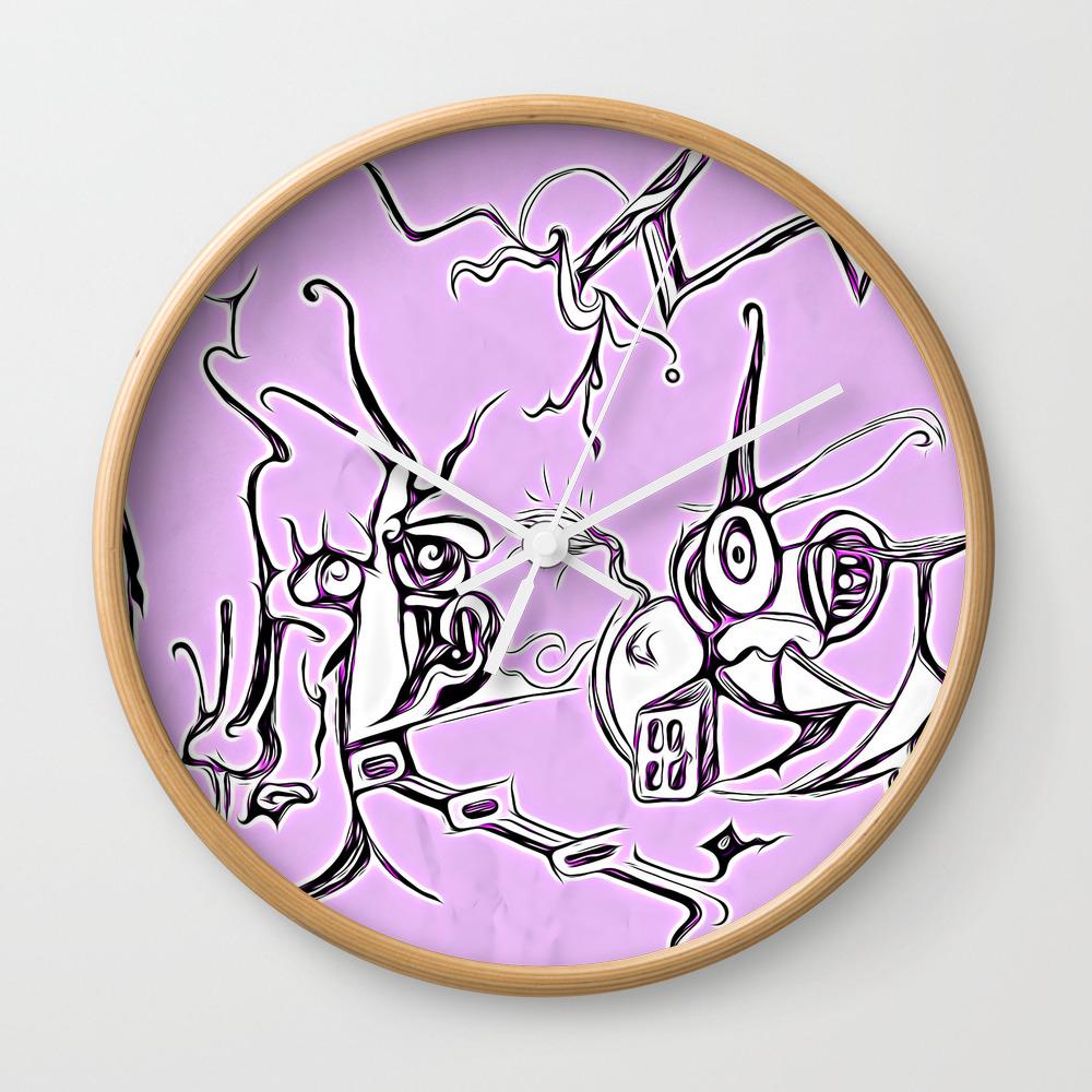 Tick Tick Wall Clock by Jennifersartdesign CLK8453515