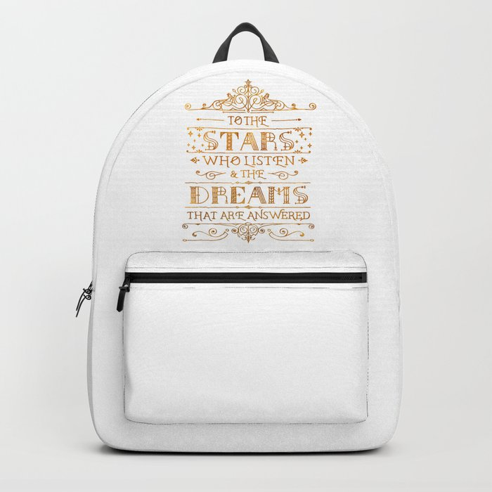 To the Stars - White Backpack