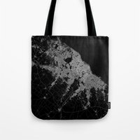 poland Tote Bags featuring Warsaw map poland by Line Line Lines